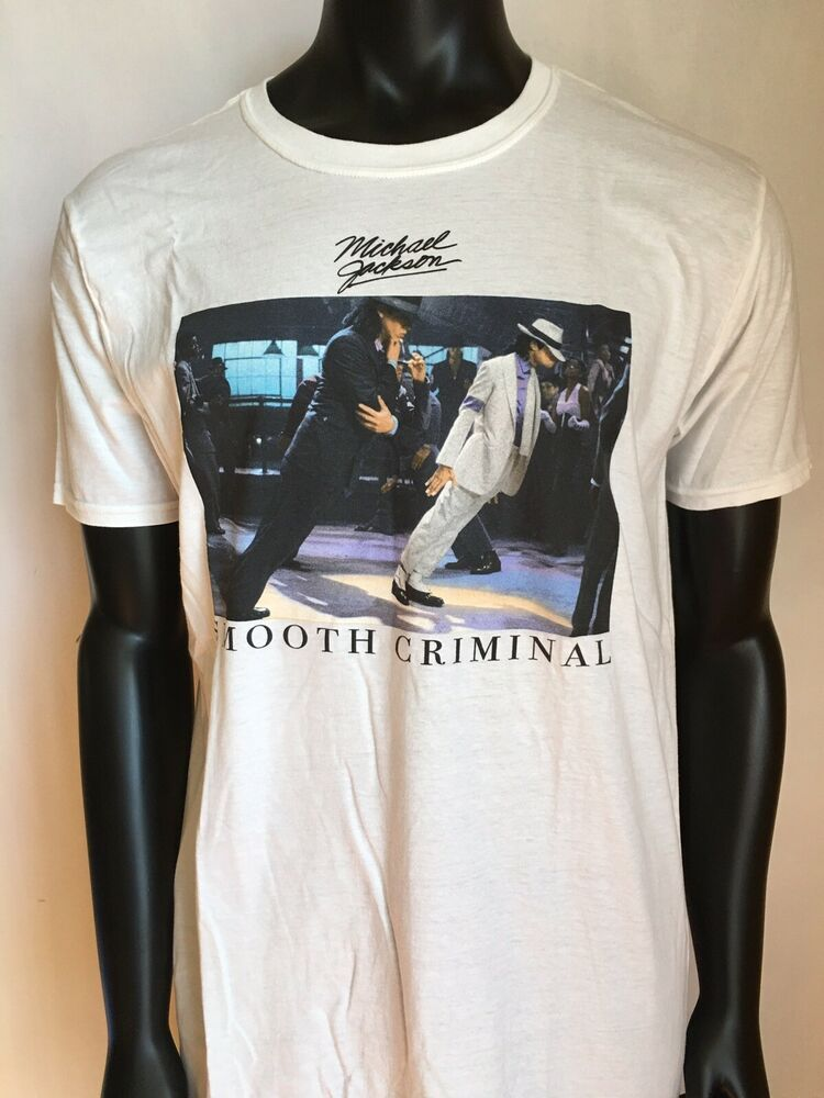 c1e5b57d657e MICHAEL JACKSON SMOOTH CRIMINAL GRAPHIC WHITE SUIT TEE SHIRT SHORT SLEEVE |  eBay