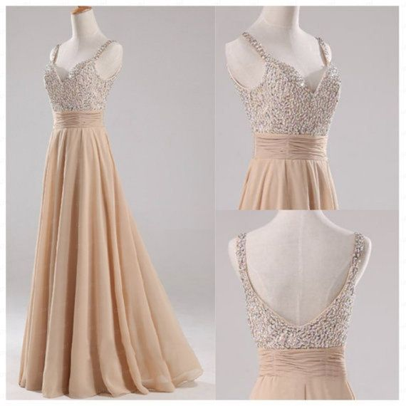 Champagne Straps Beads Backless Dress Bridesmaid Dresses/Short Prom Dress/ Short Prom dresses/Wedding Dress/Bridal Dress/Bridesmaid Dresses on Etsy, £90.96