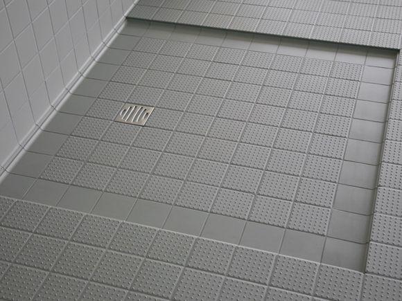 Anti Slip Tegels : Topcer tegels voor de badkamer inloopdouche bath in