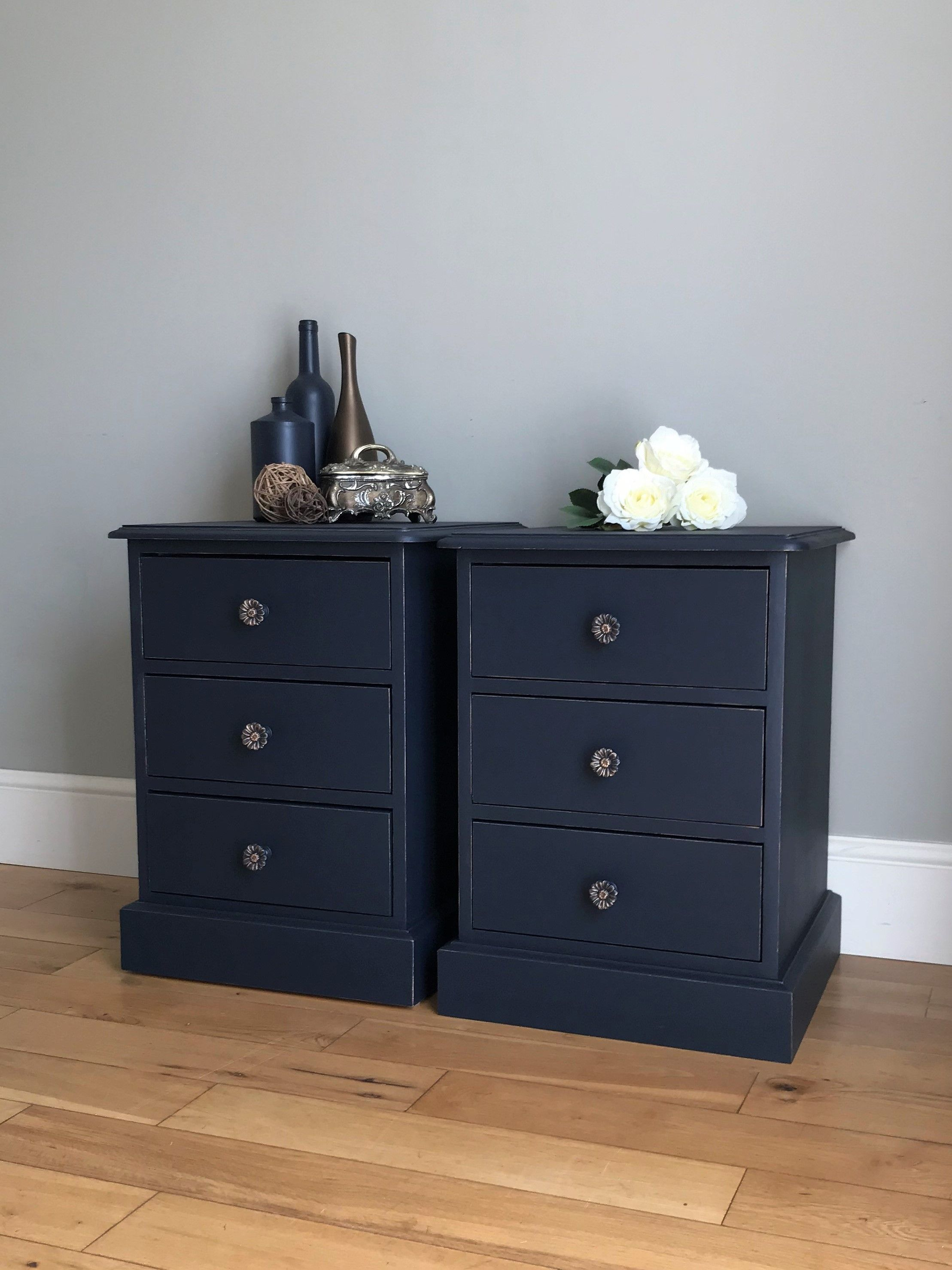Pin On Painted Bedside Tables