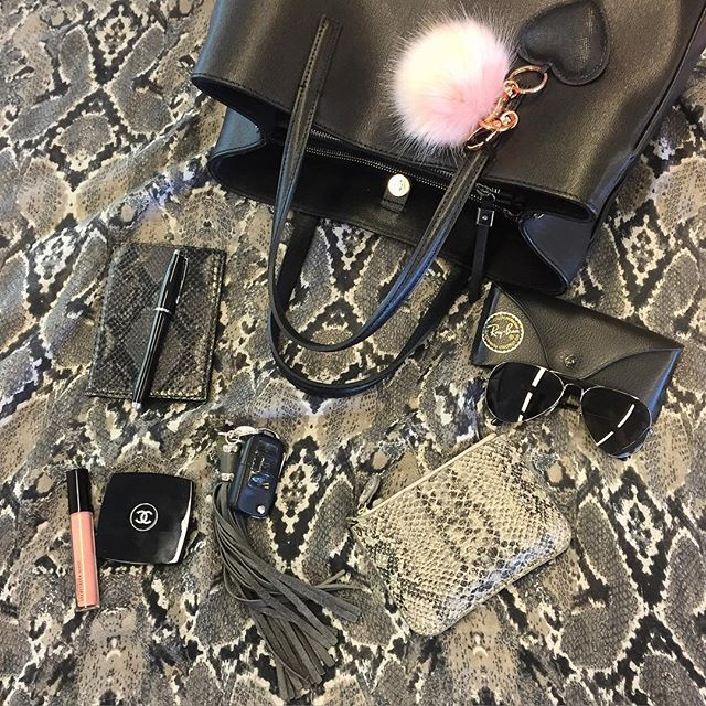 Instagram media bags_nstuff - Happy Thursday to my lovely IG Friends!!  #snakeprint  and #black ⚫ for today's #dailyessentials **************************** #bags_nstuff #bagoftheday #bagcharms #botd #dailyessentials #bagstagram #bagaddict #purseaddict #bagaddiction #mylifinabag #lovebags #handbaglover #bagporn #mybag #instabag  #purseporn #photooftheday #instadaily #instapic @purseforum #bagsoftpf #thebagmemo #stylewithenvy #shareyourbaglove #whatsinmybag #wimb #insidemybag @thingsinmybag