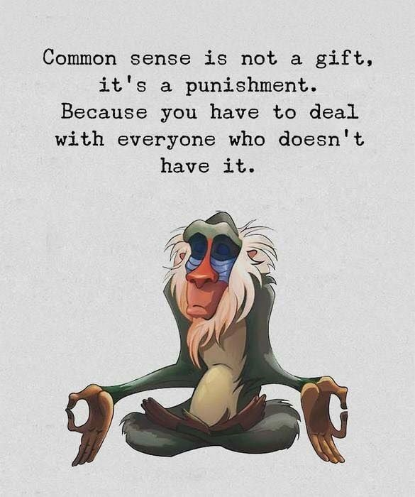 Common Sense Is Not A Gift Common Sense Quotes Funny Quotes Inspirational Quotes Disney