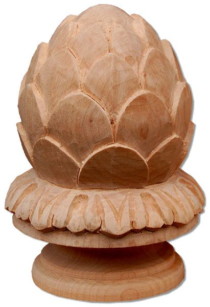 Carved Wooden Newels Top And Carved Tops For Newels. Newel Finials Are  Carved In A Deep Relief With Traditional Design. Finials For Newels Top Are  Hand ...