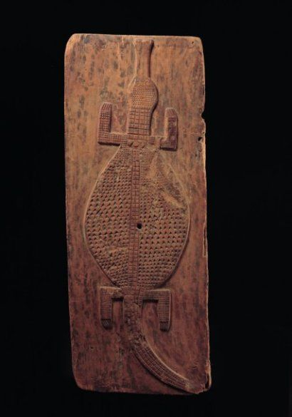 Africa | door from the Baule people of the Ivory Coast | Carved wood