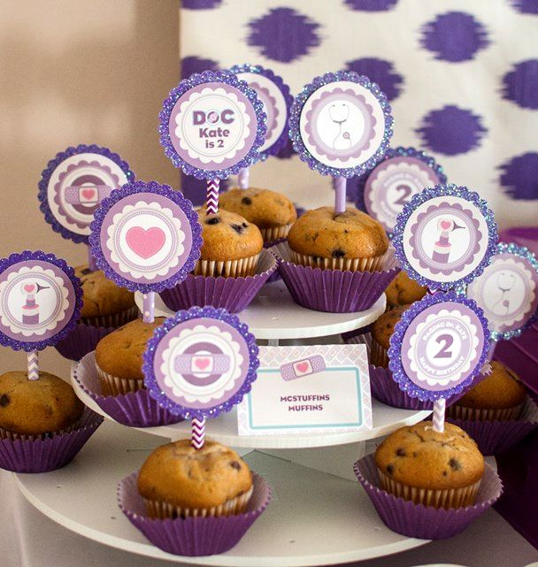 Doc Mcstuffins Party Ideas Mcstuffins Muffins Food In 2018 Doc