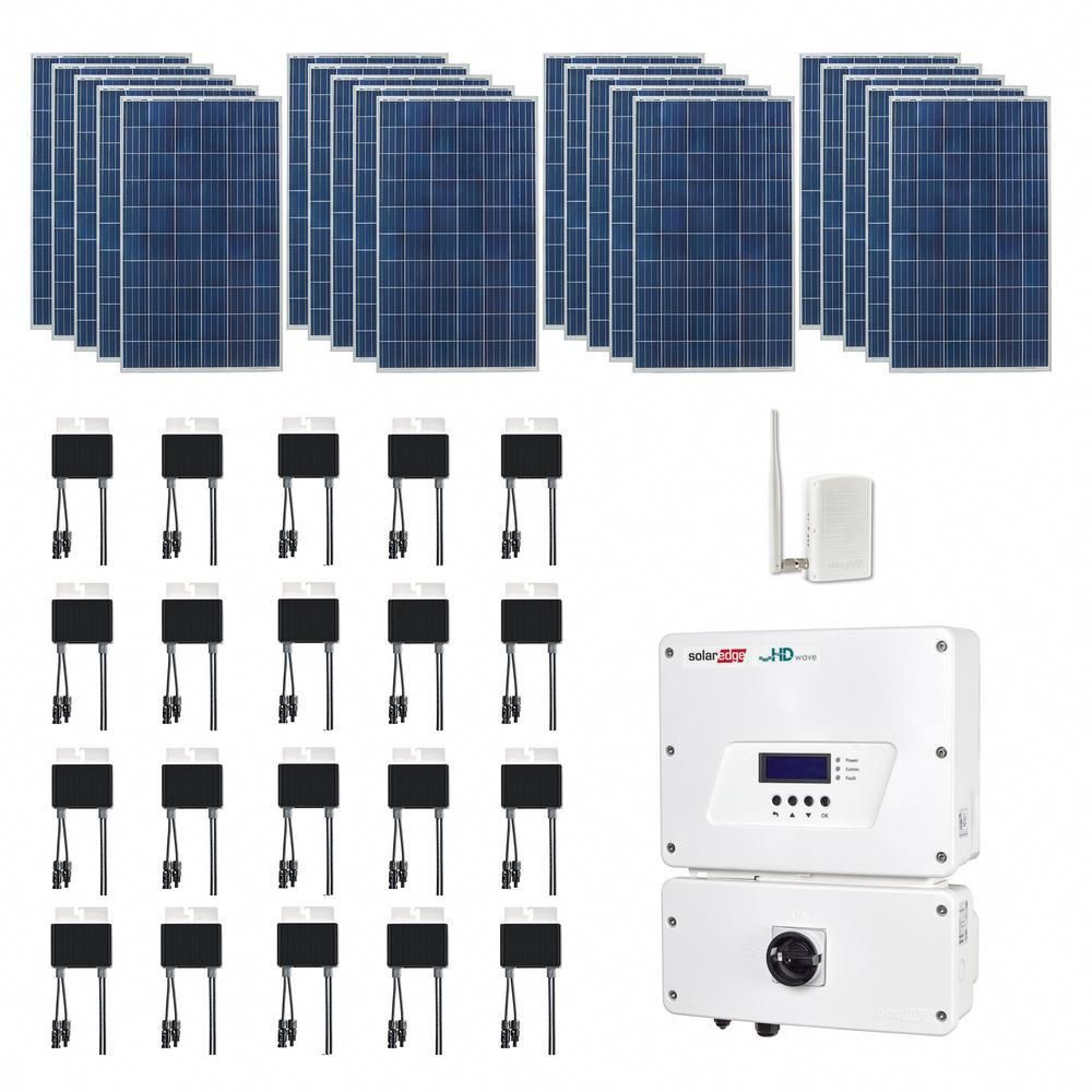 Grape Solar 5 300 Watt Expandable Poly Crystalline Pv Grid Tied Solar Power Kit Solarenergy Solarpane Solar Power Kits Solar Energy Information Solar Projects