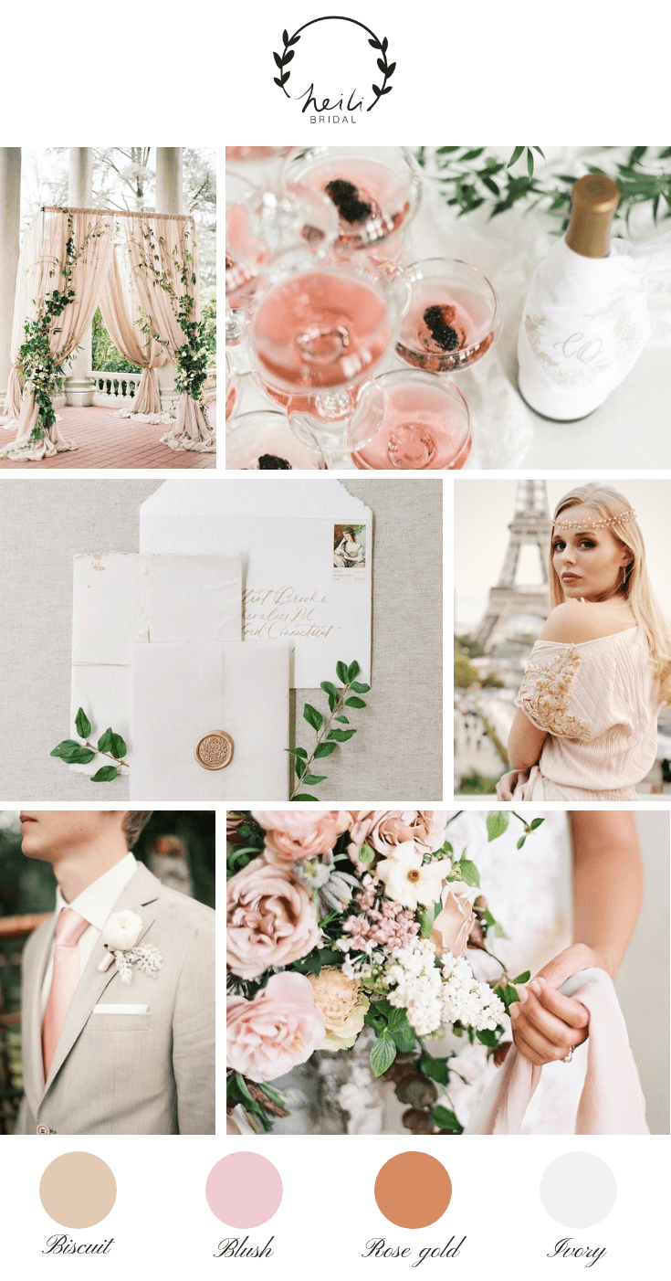 Paris Blush and Rose Gold Wedding Inspiration