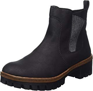 detailed images first look hot products Rieker Damen Herbst/Winter Chelsea Boots #damen #frau ...