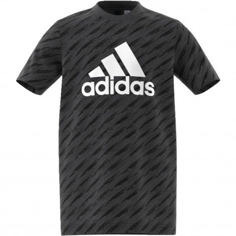 b236e1bd1e9 adidas Essentials YB Logo shirt junior carbon black | Athletic ...