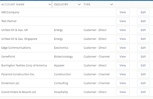 lightning:datatable with buttons in Salesforce - Sample Code