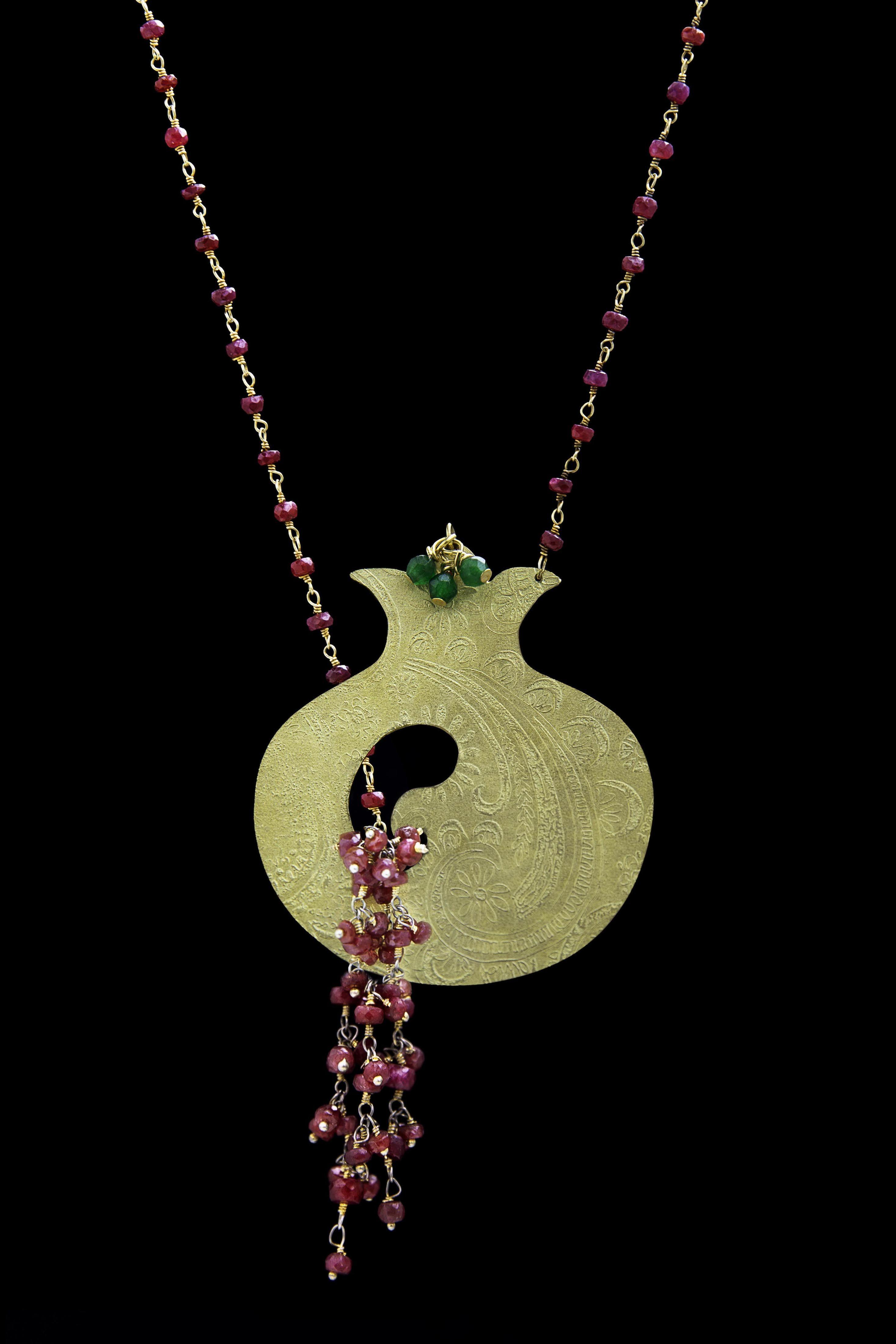 Pomegranate Candy Link Chain Necklace 8CvJU
