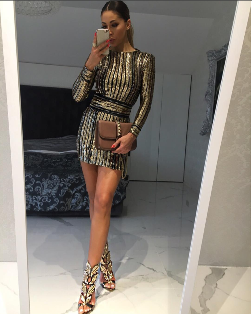 Christina gold sequins mini dress in kıyafet pinterest