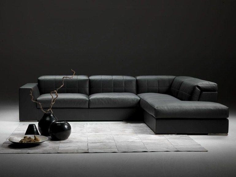 Divano tetris ~ Divano angolare componibile in pelle con poggiatesta zoe divano