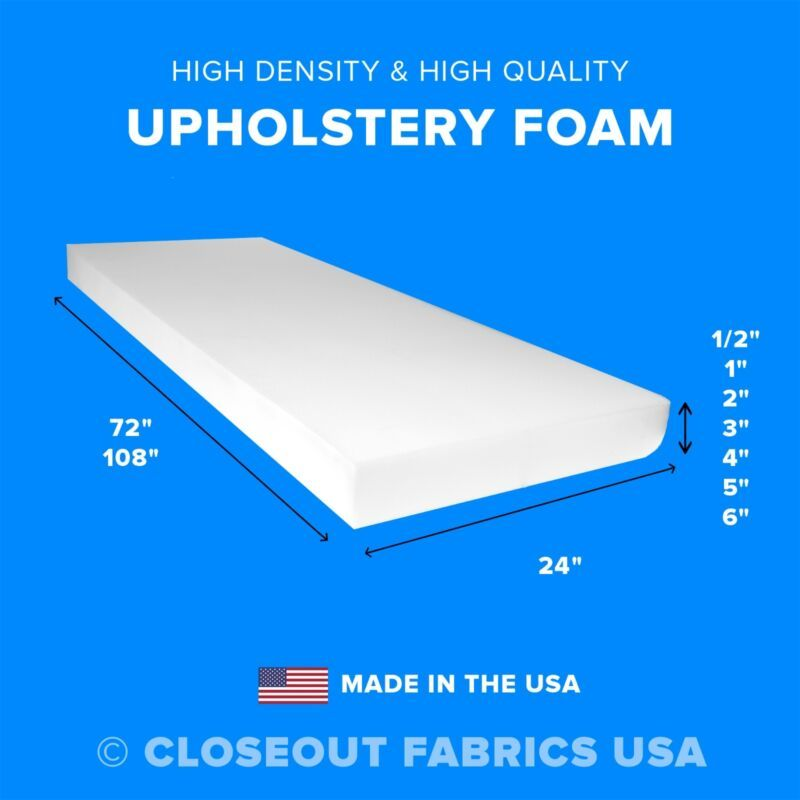 4 95 High Density Upholstery Foam Seat Cushion Replacement 24