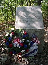 Monument at the site of the plane crash in which Audie Murphy died