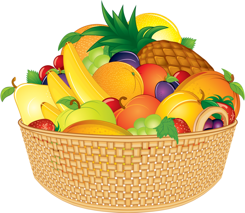 FRUIT BASKET | CLIP ART - FOOD - CLIPART | Pinterest ...