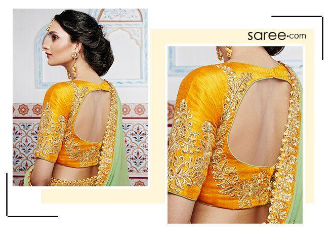 10 Stylish Saree Blouse And Lehenga Blouse Designs 2019