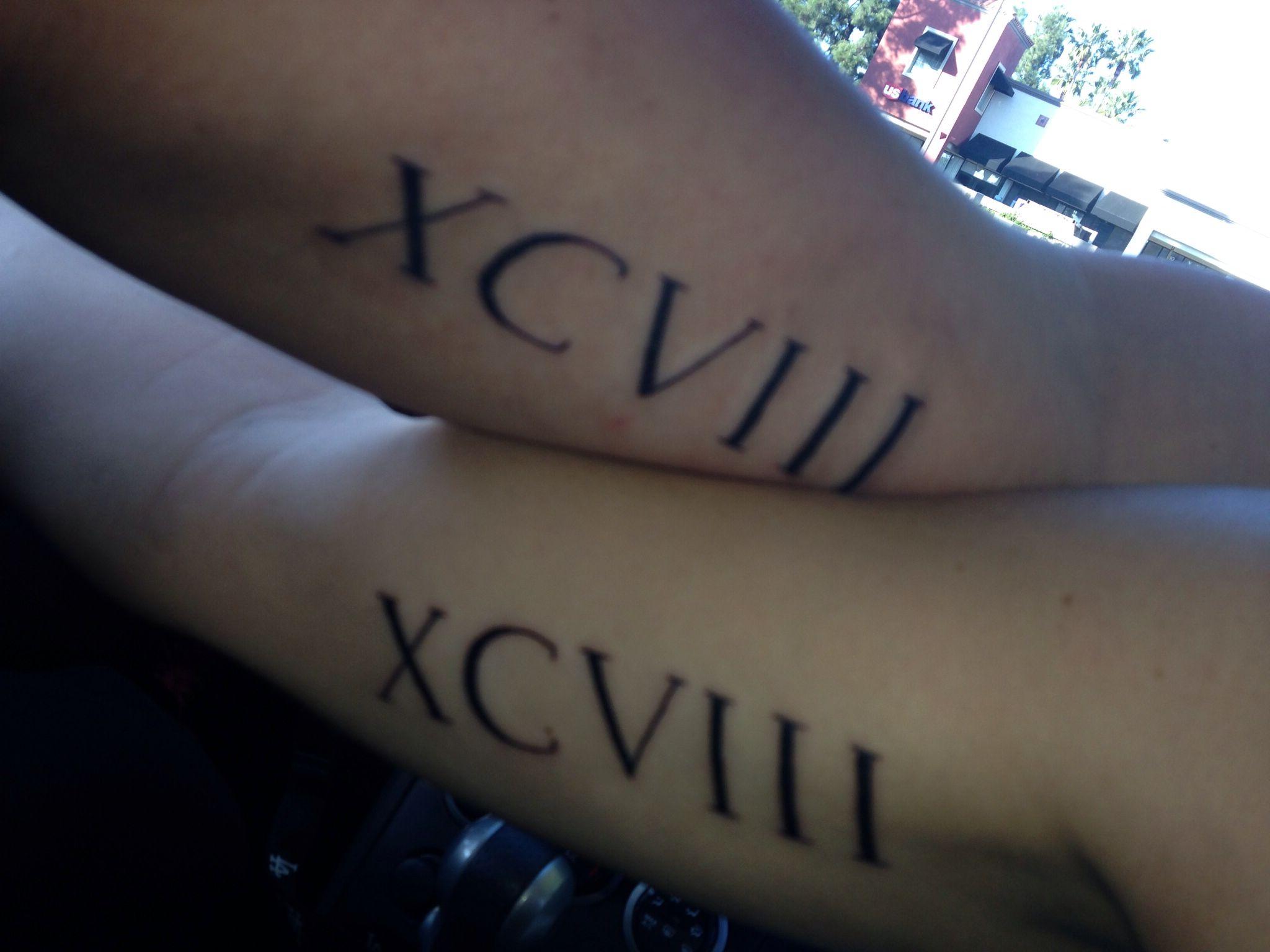 40 fantastic friendship tattoos creativefan - Roman Numeral Friendship Tattoos