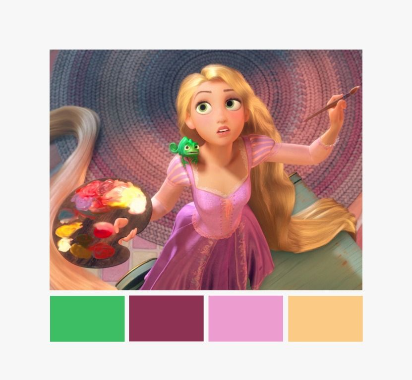 Rapunzel s dress color combination