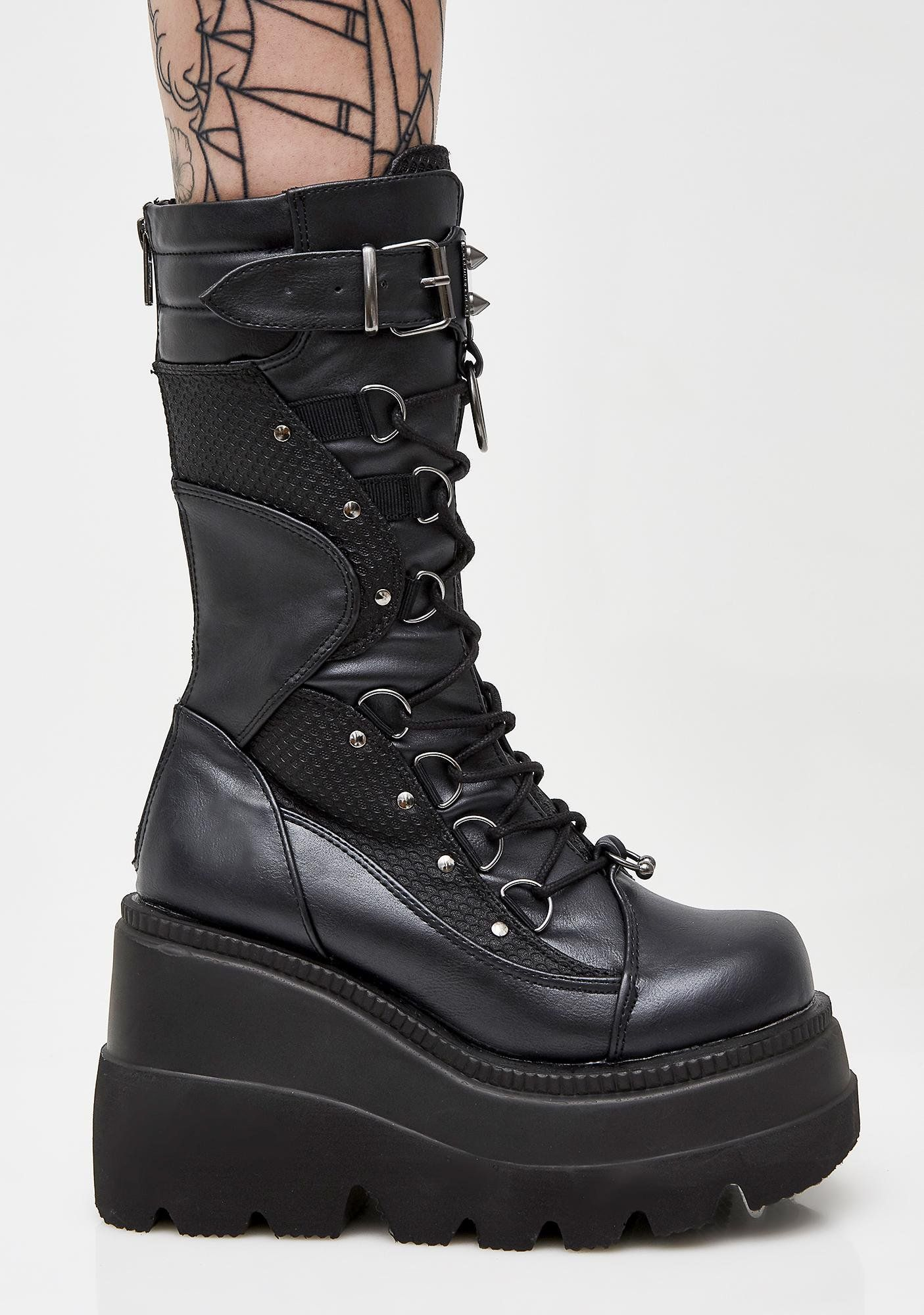 16e21026eb5 High Rise Shaker Boots in 2019 | clothes to buy. | Boots, Punk boots ...