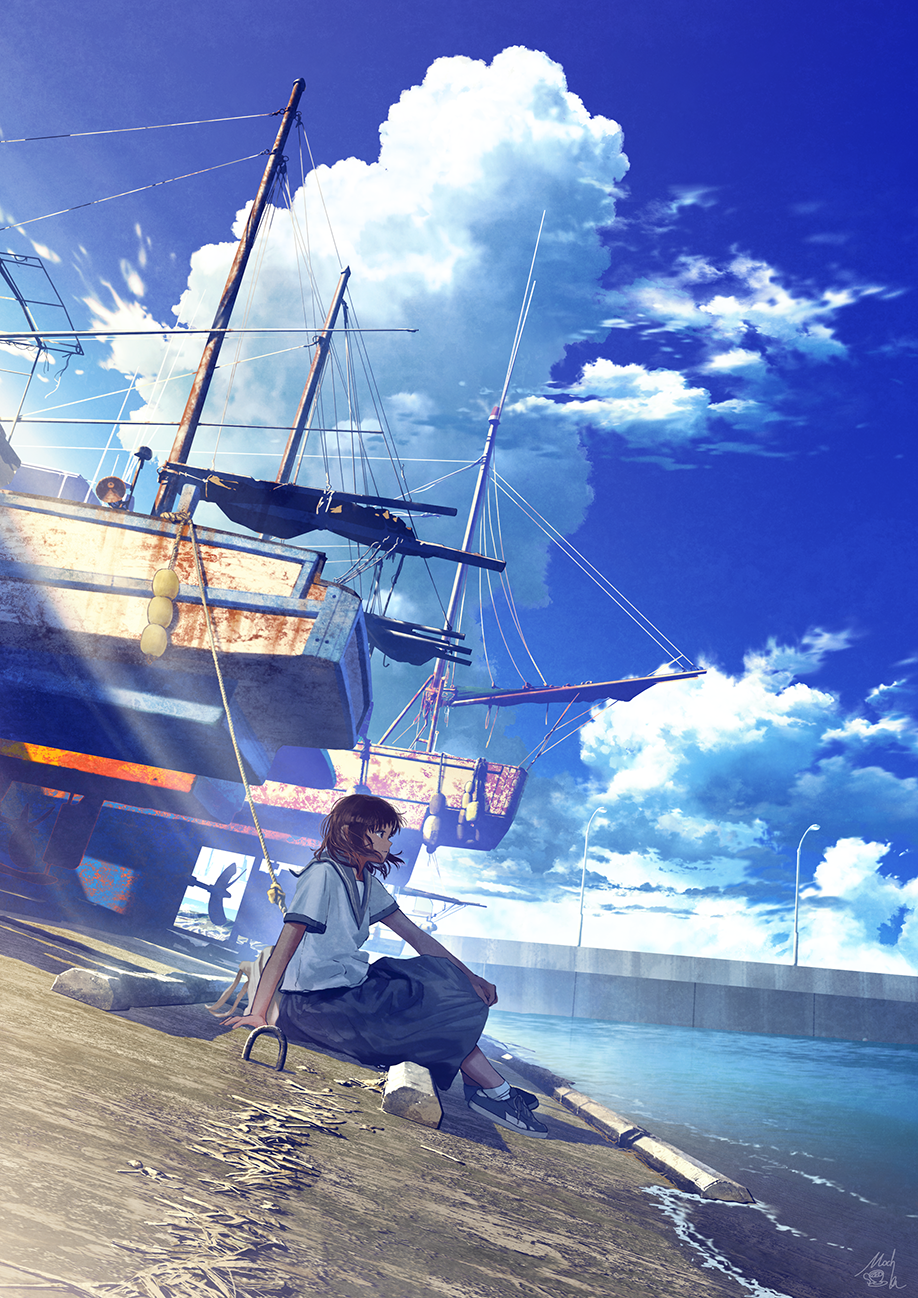 mocha@エアコミティア on Twitter in 2020 Anime scenery, Anime