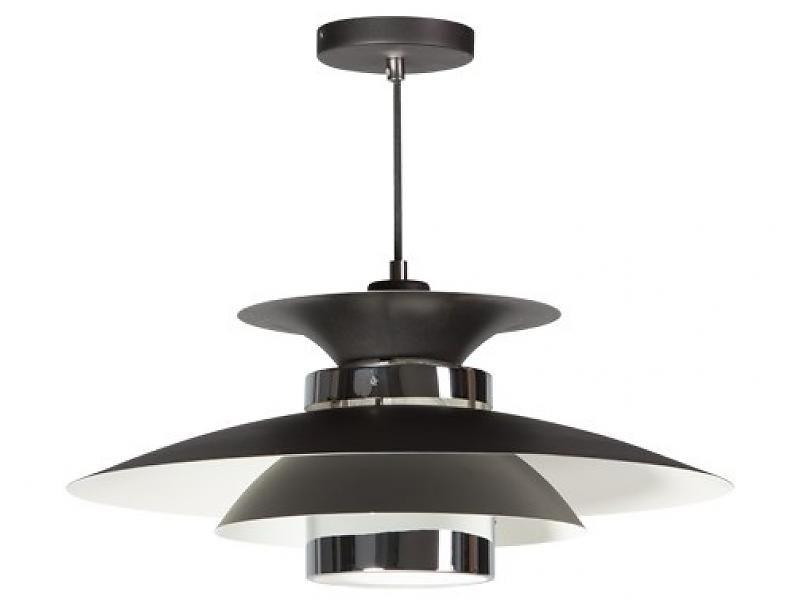 ETH Plafondlamp 'Potenza' (zwart/chroom)