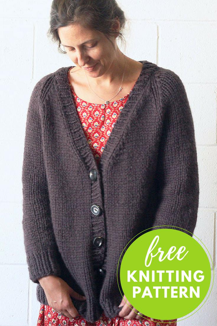 Lulea Cardigan Free Knitting Pattern | Knitting patterns, Patterns ...