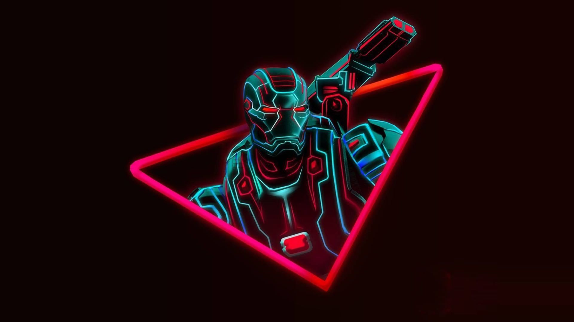 Neon Avengers 1920x1080 Desktop Wallpapers Based On Artwork By Aniketjatav Instagram