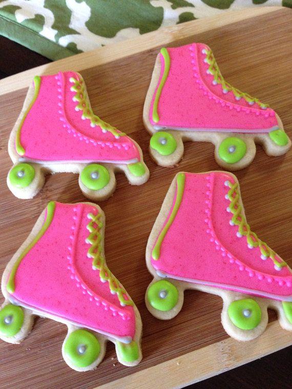 Roller Skate Cookies By Heidissweetshoppe On Etsy C Cookies