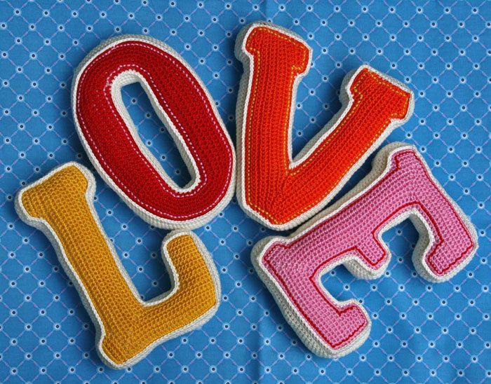 Crochet Letters LOVE crochet pattern PDF by CAROcreated on Etsy - letters in pdf