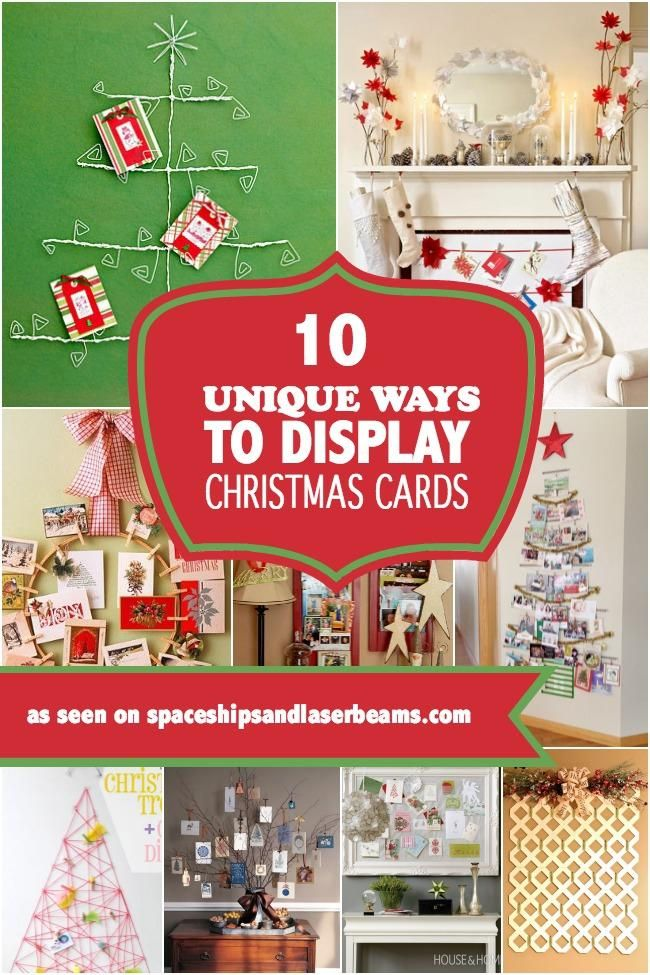 unique-ways-to-display-christmas-cards Christmas ideas Pinterest