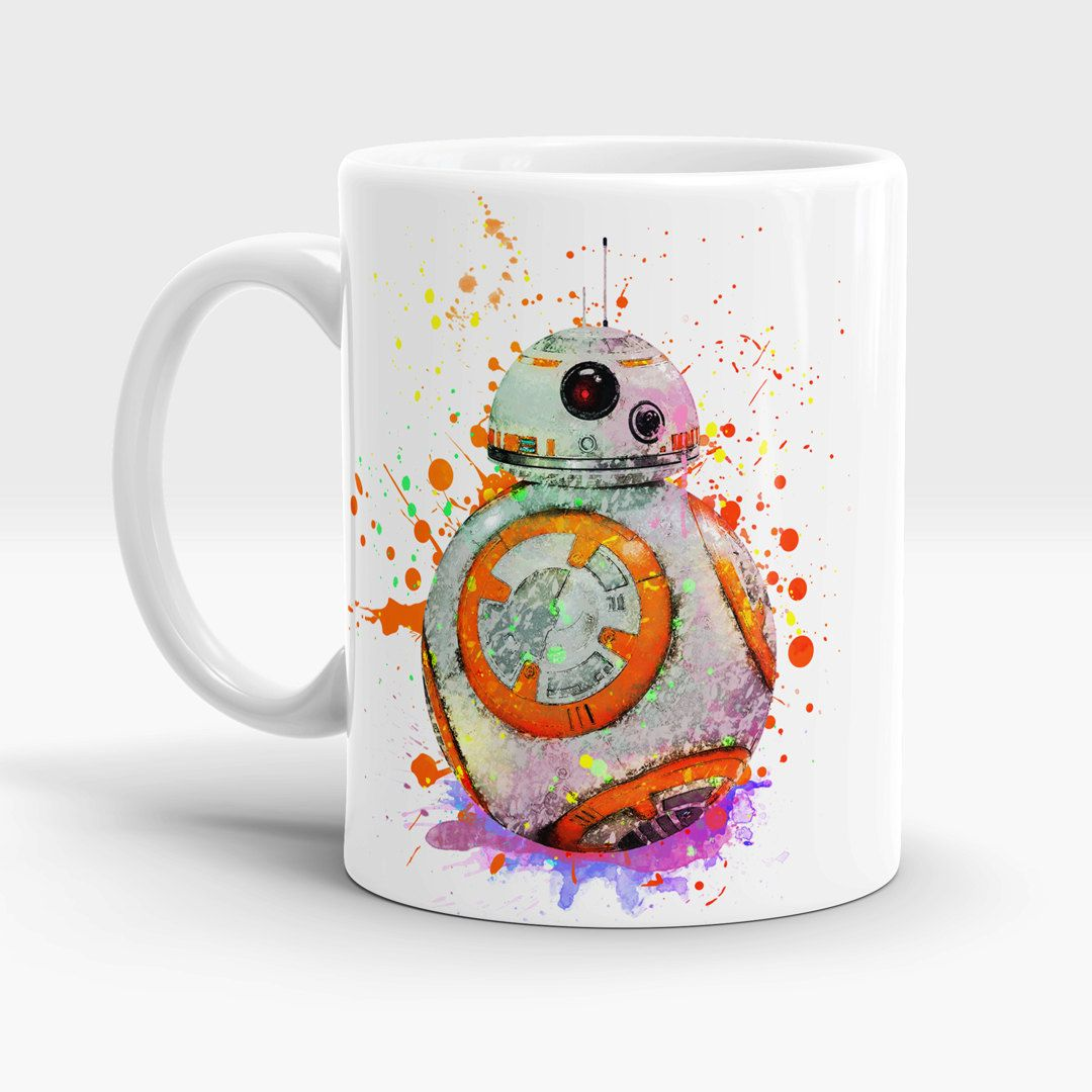 Bb 8 Star Wars 7 Coffee Mug Tea Mug Bb 8 Watercolor Art Mug Bb8