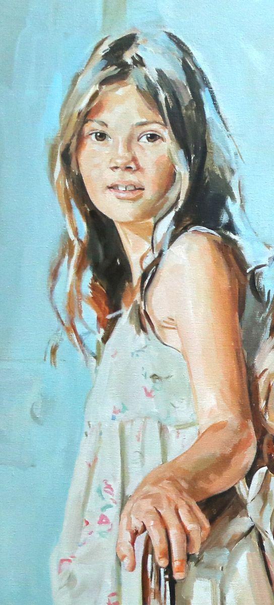 Oils Children Child Portrait Painting Acrylic Portrait Painting