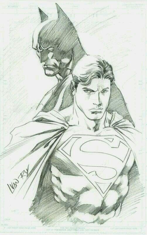 Batman Superman Art Superhero Art Comic Art Superman Drawing