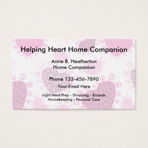 Home Care Companion Business Card Zazzle Com Home Health Care Home Health Aide Home Care