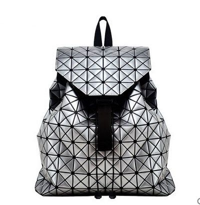 2015 Luxury Women's Issey miyake Bag Backpack Diamond Shoulder Bag  Student's School Backpack Free Shipping