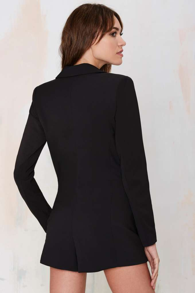 34170b73a6f2 No Tux Given Blazer Romper - Black - Rompers + Jumpsuits | Back In Stock |  Bottoms