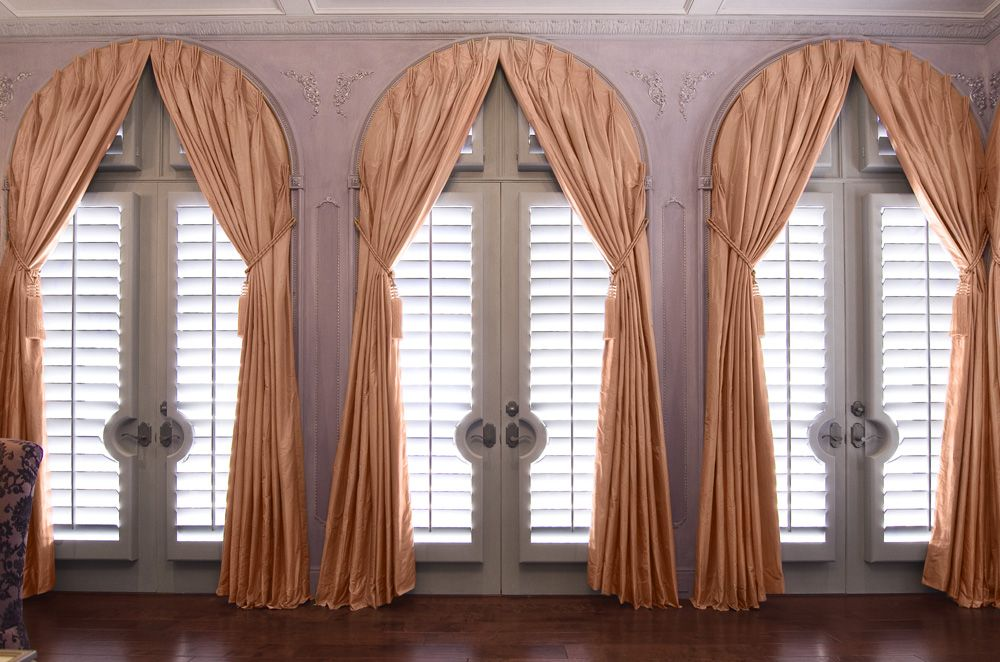 pinterest windows best of arch large the blinds pole superiorshades superior this ringless provides images traversing type drapes draping and a wood closing on