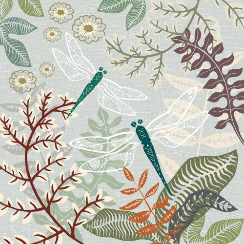 Dragonfly & Ferns