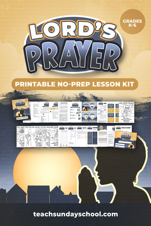 Lord S Prayer Bible Lesson Printable Sunday School Teaching Sunday School Kids Sunday School Curriculum
