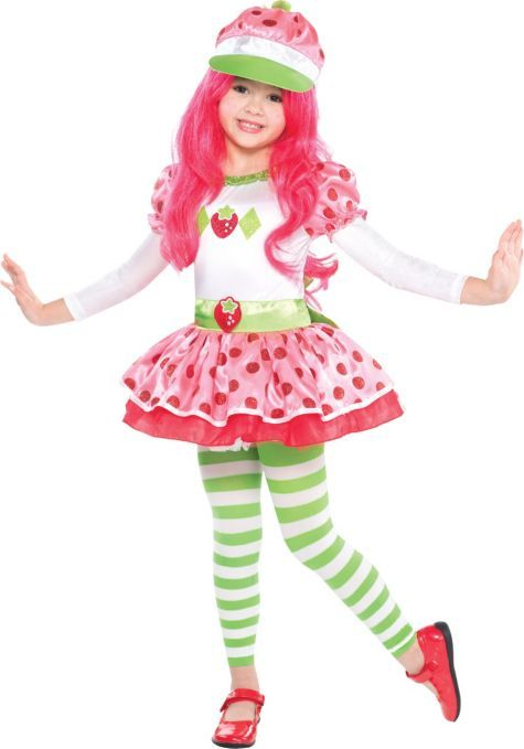 Toddler Girls Strawberry Shortcake Costume - Party City  sc 1 st  Pinterest & Toddler Girls Strawberry Shortcake Costume - Party City   Halloween ...