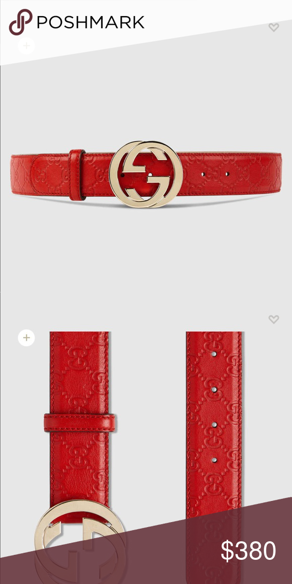 e4a8ef81700 Gucci belt all wrapping included Red gucci belt worn once size 85 have box  and dust bag and Gucci bag would fit size 24-28 us jean size Gucci belt  nwot ...