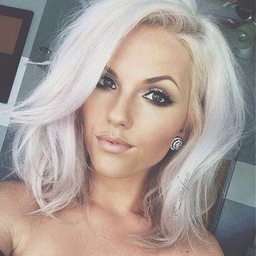 white blonde bob hairstyles hair did pinterest hair