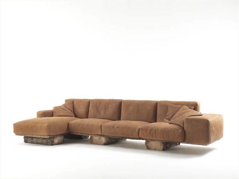 Upholstered Leather Sofa Utah