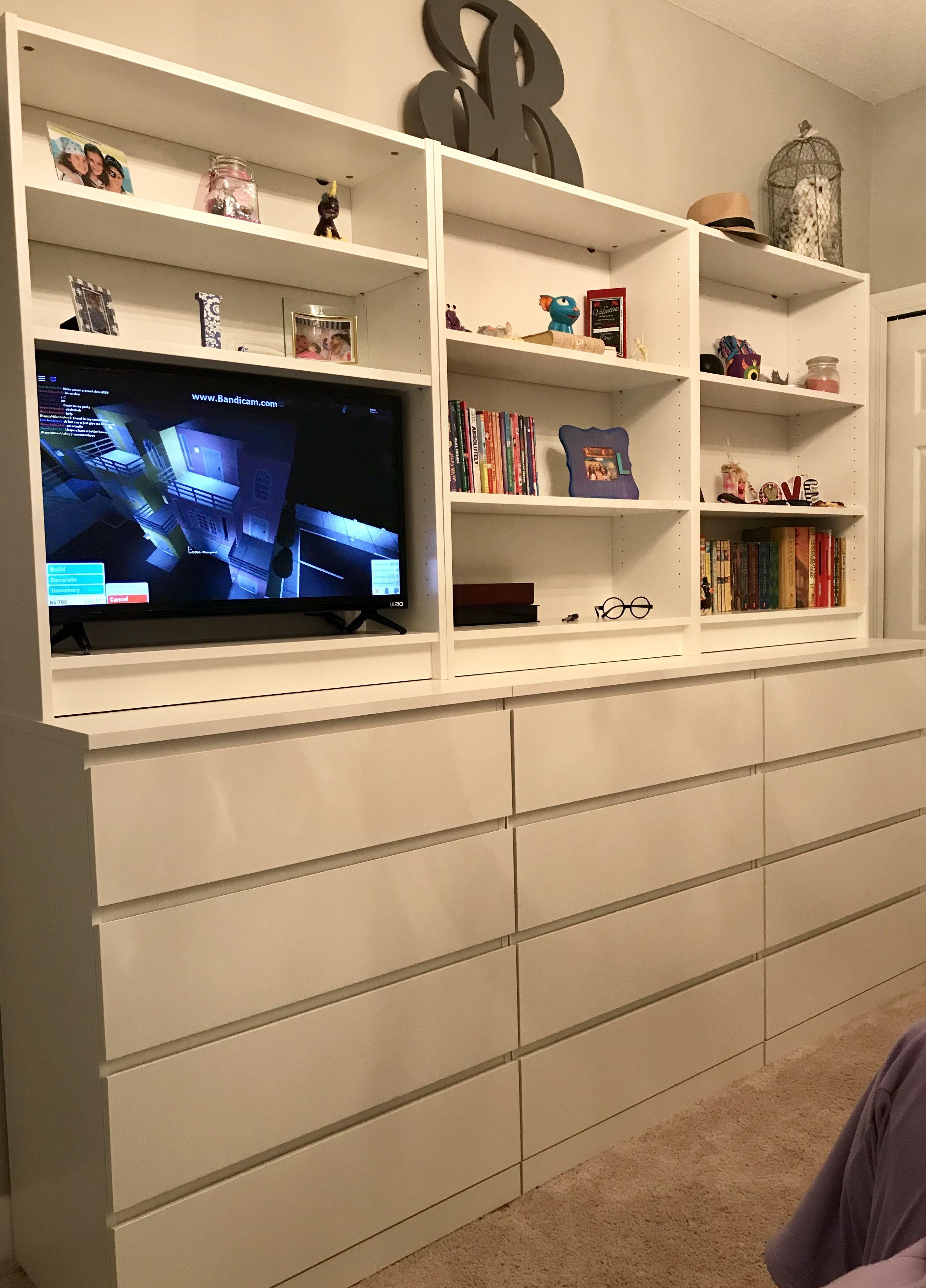 Ikea Malm And Billy Bookcases Ikea Bedroom Storage Ikea Malm Ikea Malm Drawers