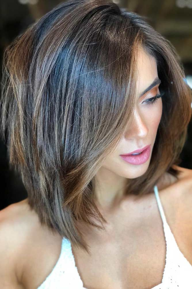 30 Stunning Shoulder Length Bob Ideas For Every Woman #layeredbobhairstyles