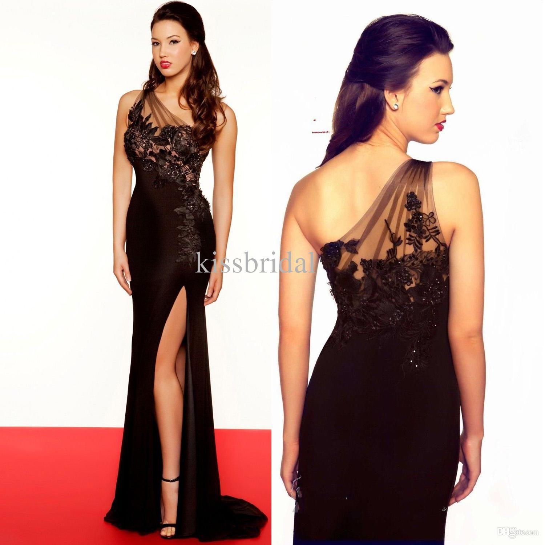 Prom Dresses 2014 Sheer Black