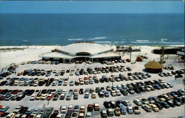 Aerial View Of Tower Beach On The Miracle Strip Ft Walton Florida Playground Area Gulf Mexico Water Sports