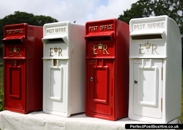 Cast Iron Post//Letter Box Royal Mail Pillar Post Office Wedding WHITE