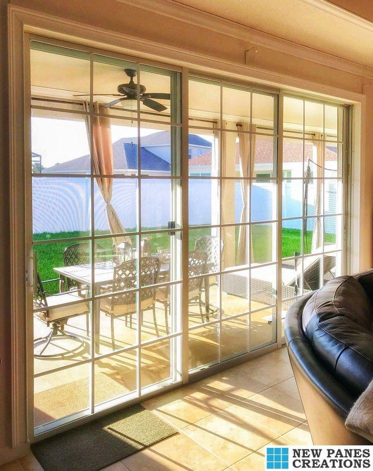 Sliding Glass Doors Using Our Add On Diy Window Panes New Panes Creations Sliding Glass Door Window Grids Glass Door